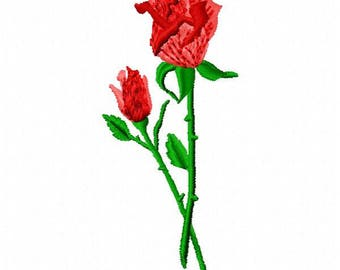 Roses Machine Embroidery Design - Instant Download
