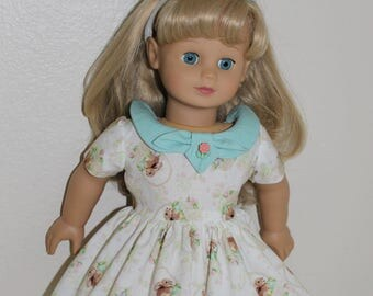 Easter dress with matching headband for 18 inch doll