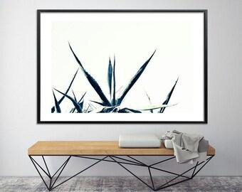 Minimalist print Black and white Large tropical art, Large Canvas Print 40X60, livingroom print modern botanical art by Duealberi