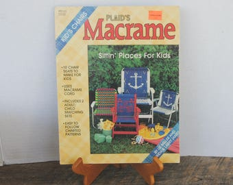 Plaids Macrame Kids Chairs Booklet Sittin Places For Kids 1986