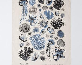 Oceanic Tea Towel - Cobalt