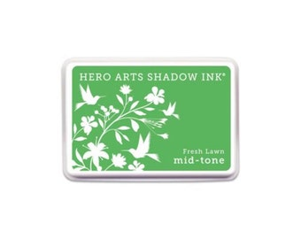Hero Arts: AF372 FRESH LAWN MID-tone Shadow Ink, scrapbooking, card making, crafting, paper crafting, applicator, 2017, beautiful green