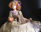 RESERVED Art doll OOAK doll Ooak art doll Paperclay doll Handmade doll Collectible doll  Decorative doll Interior doll Sculpted doll