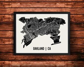 Oakland Map Art Print | Oakland Print | Oakland Art Print | Oakland Poster | Oakland Gift | Wall Art