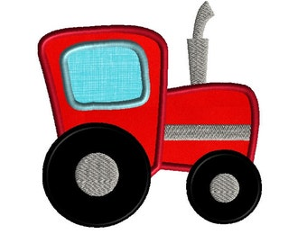 Tractor Applique Machine Embroidery Design-INSTANT DOWNLOAD
