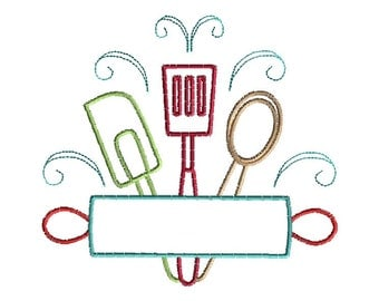 Bake Machine Embroidery Design-INSTANT DOWNLOAD-4 sizes