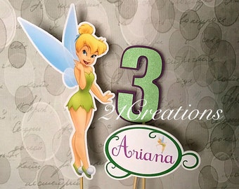Tinkerbell Centerpiece Insert or Cake Topper