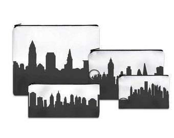 Custom City Clutch Purse - Skyline Silhouette