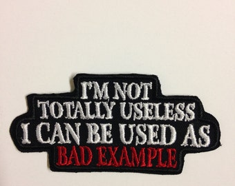 Embroidered patch Bad exemple