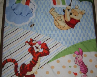 Winnie the Pooh, Tigger, and Piglet Too Quilted Comforter Blanket with Matching Pillow Case