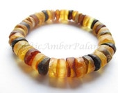 Raw Unpolished Baltic Amber Bracelet For Unisex Adults