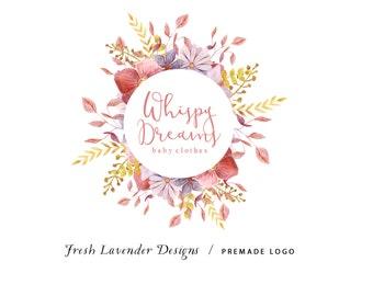 Floral Logo / Wildflower Logo / Florist Logo / Custom Logo / Floral Frame / Watermark / Photography Logo