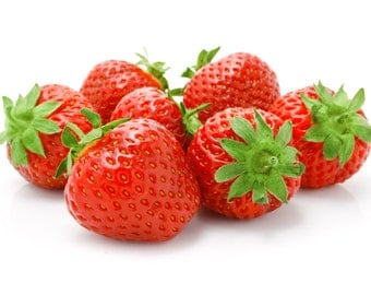 Strawberry Wall Decal, Fruit Wall Decal, Vinyl Wall Decal, Vinyl Graphics, Infinite Graphics, Wall Stickers, Strawberries, Kitchen Decor,