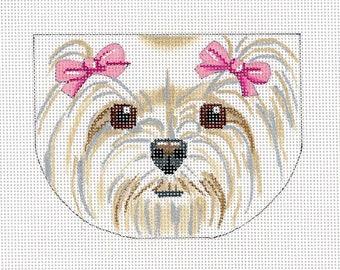 Needlepoint Dog Canvas - Maltese Face Purse