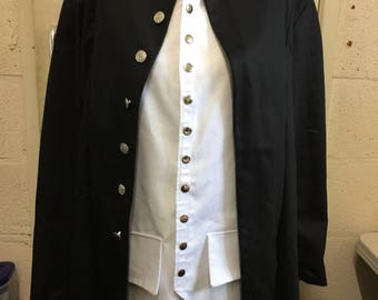 nameless ghoul coat. papa inspired black coat with white waistcoat nameless ghoul t