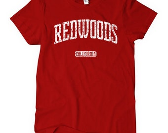 Women's Redwoods California T-shirt - S M L XL 2x - Ladies' Tee, Gift for Her, Redwoods Shirt, National Park, Pacific Coast Shirt, Sequoia