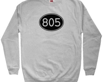 Area Code 805 Sweatshirt - Men S M L XL 2x 3x - Crewneck, Oxnard Sweatshirt, Santa Maria Sweatshirt, Santa Barbara Sweatshirt, Simi Valley