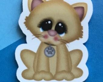 Tan Cat Magnetic Bookmark