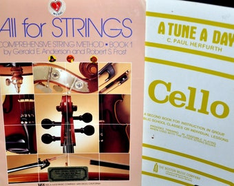 Set of 2 Vintage Sheet Music Books for Strings