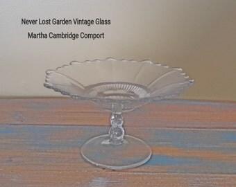Martha Cambridge Glass Comfort  Vintage