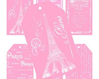 INSTANT DOWNLOAD, Paris Tags, Paris Gift Tags, Printable, Glamorous Sweet Events