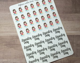 Functional Planner Stickers | Laundry Day