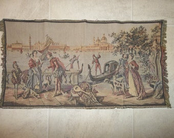 "Antique ITALIAN Tapestry..Large..19"" by 36""...FREE Shipping...Good Conditionn"