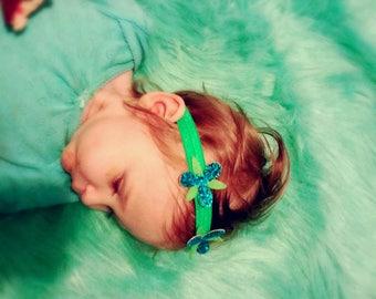 poppy troll headband, poppy headband, glitter poppy headband, troll headband, blue flower headband, baby troll headband, BowPosh headbands