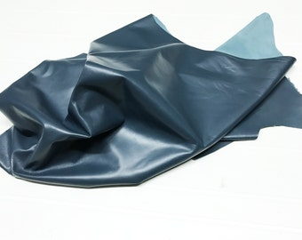 Italian soft Lambskin leather skin skins hide hides TEAL BLUE 5+sqf