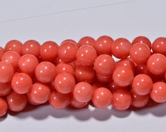 Coral Beads 4.2mm Half Strand Coral Beads Gemstone Beads Jewelry Making Supplies