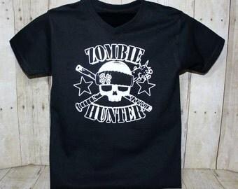 Zombie Hunter Boy Shirt, Zombie t shirt, Zombie Hunter Tee, Boys T shirt,
