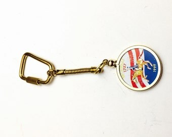 Delaware 1787-1999 first state quarter Keychain, Item No. M015