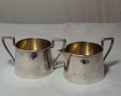 Reserve for John Webster Sterling Silver Sugar & Creamer Art Deco 1930's