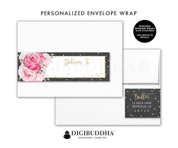 Floral Return Address Label Custom Envelope Wrap Address Sticker ...