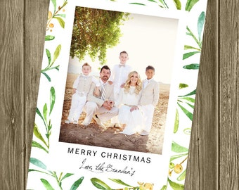 Photo Christmas Card - Branches