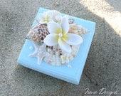 Wedding Ring Pillow Box, Wedding Ring Bearer Box For Beach Wedding. Alternative Ring Bearer Box Pillow. Nautical Wood Chest Box
