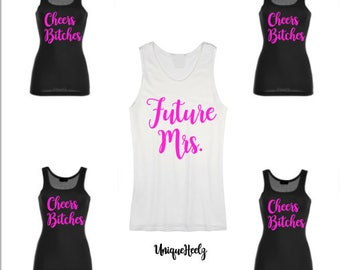 Future Mrs! - Bachelorette Party Shirts! Tank Tops - Hawaii - Vacation - Bridesmaid Gifts - Wedding Party - Vinyl NOT Paint