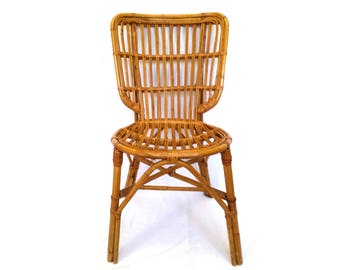 Albini Style Rattan Side Chair, Natural Rattan