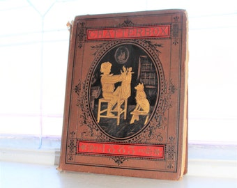 Antique Children's Book Chatterbox 1883