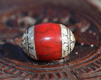 Tibetan style beeswax pendant bead  TP051
