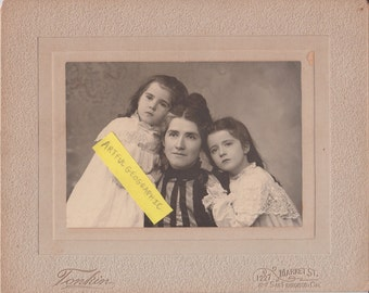 Beautiful Antique Photograph of a Mother and Daughters