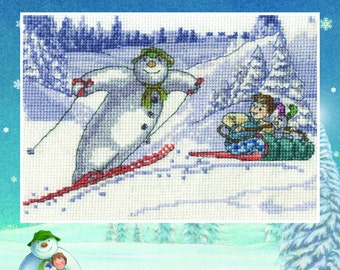 Fun in the Snow - DMC Counted Cross Stitch Kit - Special Price!
