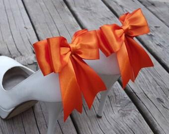 Shoe Clips, Wedding Shoe Clips, Bridal Shoe Clips, Orange  Shoe Clips,  Shoe Clips for Wedding Shoes, Bridal Shoes, Shoe Jewelry