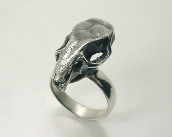Mouse Skull Ring, Sterling Silver