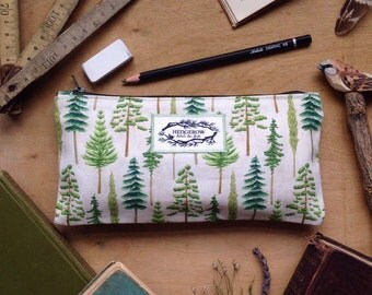 Woodland Trees Pencil Case