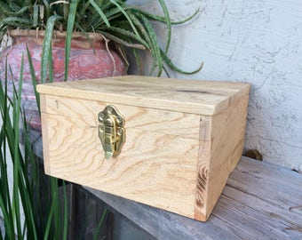 Rustic Cedar Jewelry and Watch box