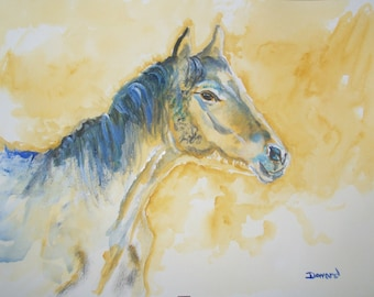 Original ACEO Horse reproduction#12 art card -: rdoward fine art