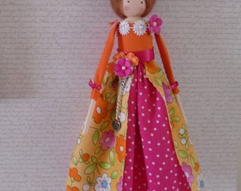 Shabby Chic Handmade Art Doll