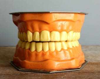 vintage dental advertising mouth model Lactona Inc, creepy decor, oddity, cabinet of curiosities