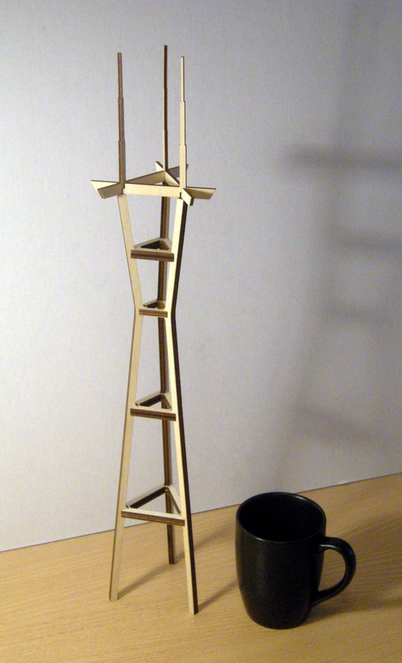 Sutro Tower, Birch Plywood kit